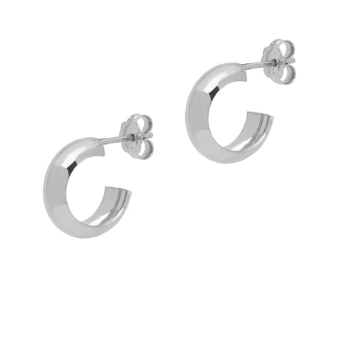 La CURVA Huggies - Silver - The Hoop Station 925 Sterling Silver Hoop Earrings Gold Huggies