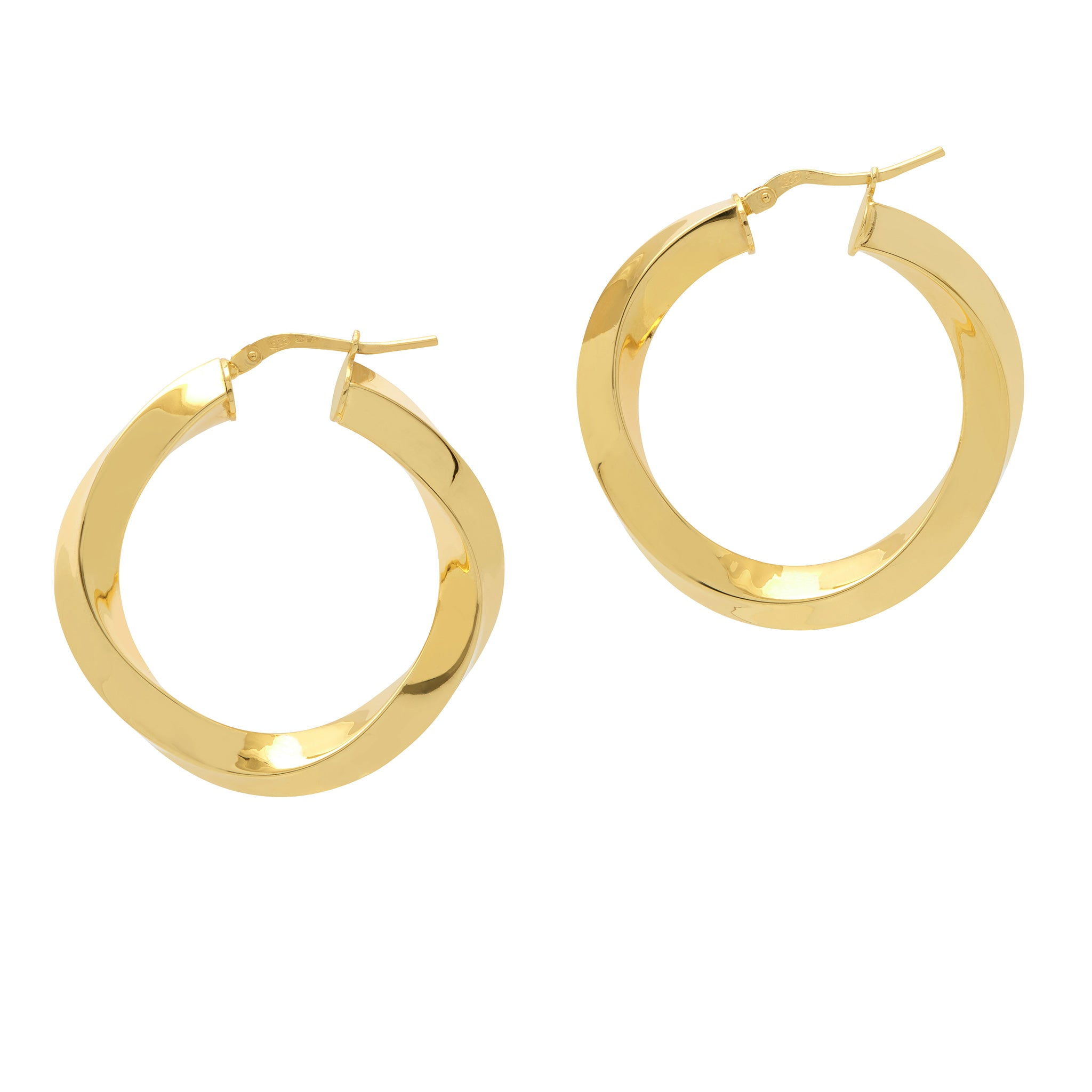 La SWIRL TWISTS - Gold - The Hoop Station 925 Sterling Silver Hoop Earrings Gold Huggies