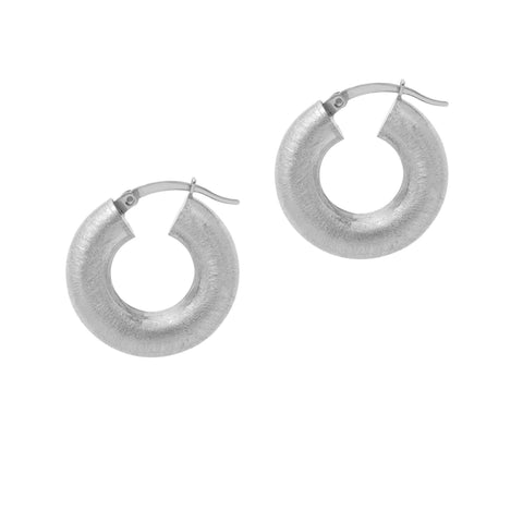 La SATINA CUSHION - Silver - The Hoop Station 925 Sterling Silver Hoop Earrings Gold Huggies