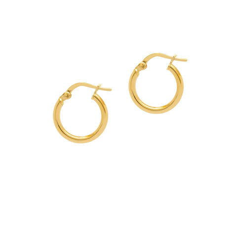La RIMINI Huggies - Gold (2 x sizes) - The Hoop Station 925 Sterling Silver Hoop Earrings Gold Huggies