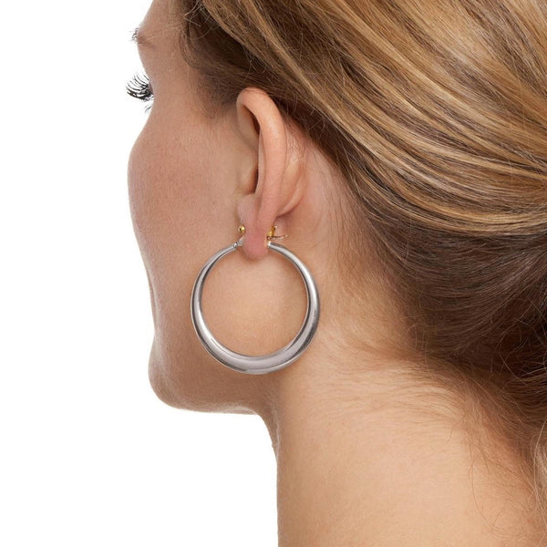 La PORTOFINO - The Hoop Station 925 Sterling Silver Hoop Earrings Gold Huggies