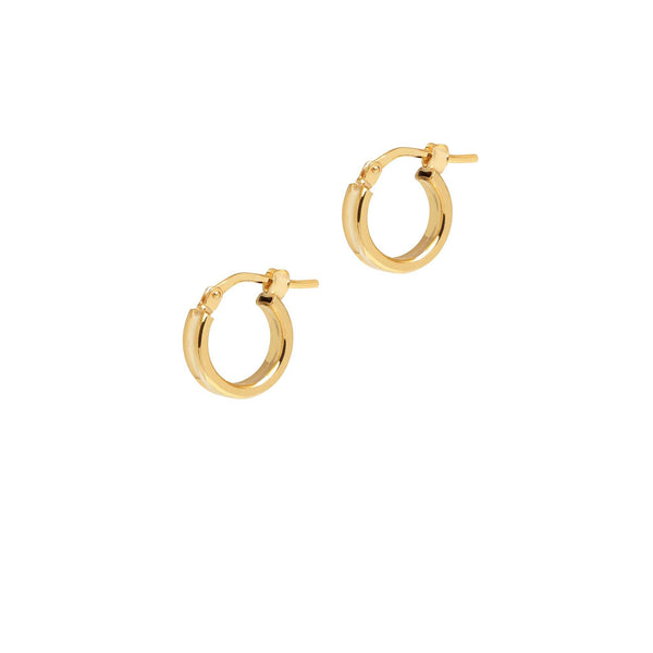 La ELBA DENTED Huggies - The Hoop Station 925 Sterling Silver Hoop Earrings Gold Huggies
