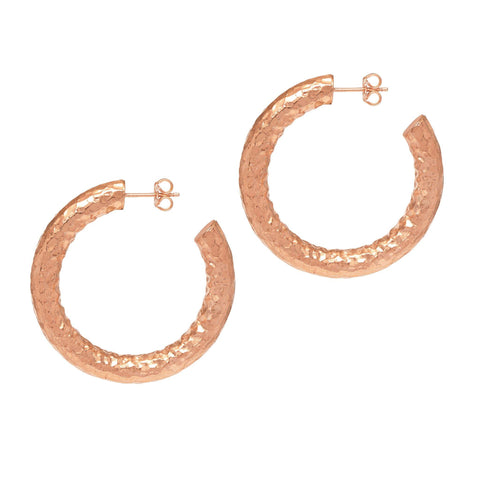 La CHUNKY SERPENTE Rose Gold Hoops - SALE - The Hoop Station 925 Sterling Silver Hoop Earrings Gold Huggies