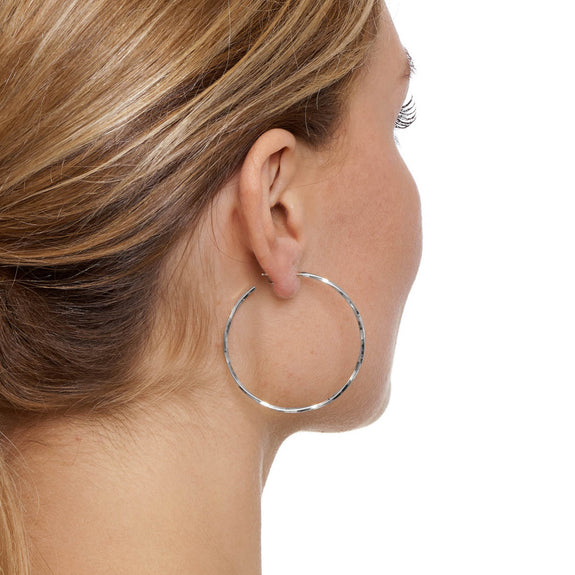 La LAGO di COMO Silver Medio Hoops - The Hoop Station 925 Sterling Silver Hoop Earrings Gold Huggies
