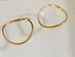 La WAVE SERPENTE - Gold - The Hoop Station 925 Sterling Silver Hoop Earrings Gold Huggies