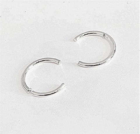 La INCOMPLETO Silver - The Hoop Station 925 Sterling Silver Hoop Earrings Gold Huggies