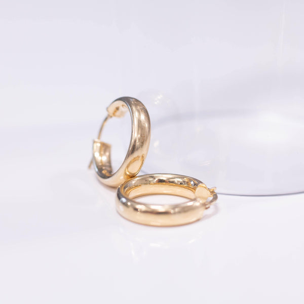 La 90s Gold Hoops - SALE - The Hoop Station 925 Sterling Silver Hoop Earrings Gold Huggies