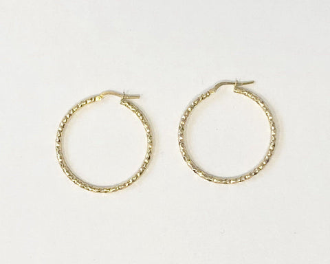 La CHISELLED Hoops - Gold