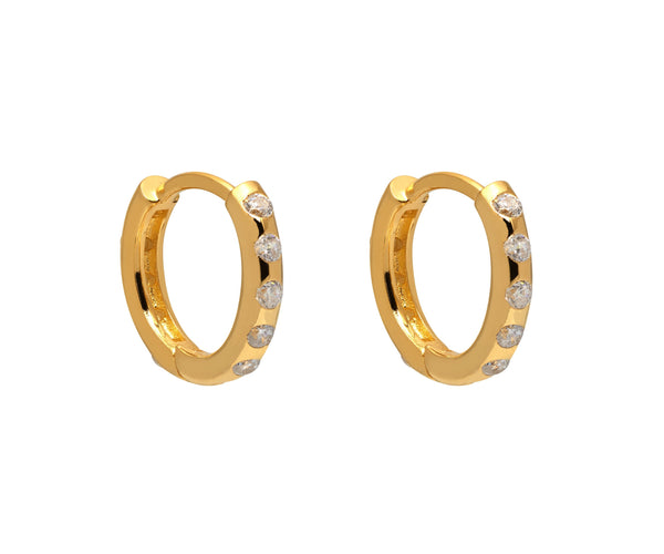 La SPARKLING POSITANO Huggies - The Hoop Station 925 Sterling Silver Hoop Earrings Gold Huggies