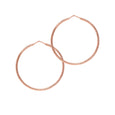 La ROMA Rose Gold Medio Hoops