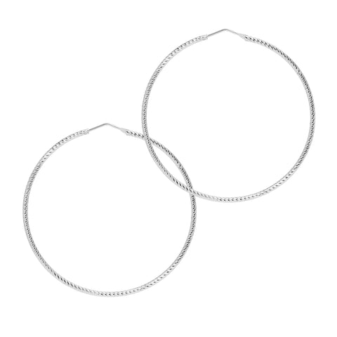 La ROMA Extra Large Silver - The Hoop Station 925 Sterling Silver Hoop Earrings Gold Huggies