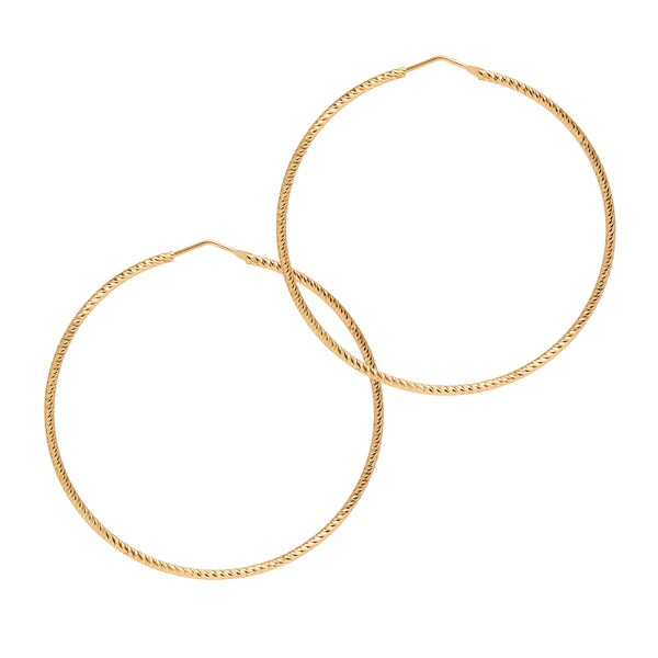La ROMA Collection - The Hoop Station 925 Sterling Silver Hoop Earrings Gold Huggies