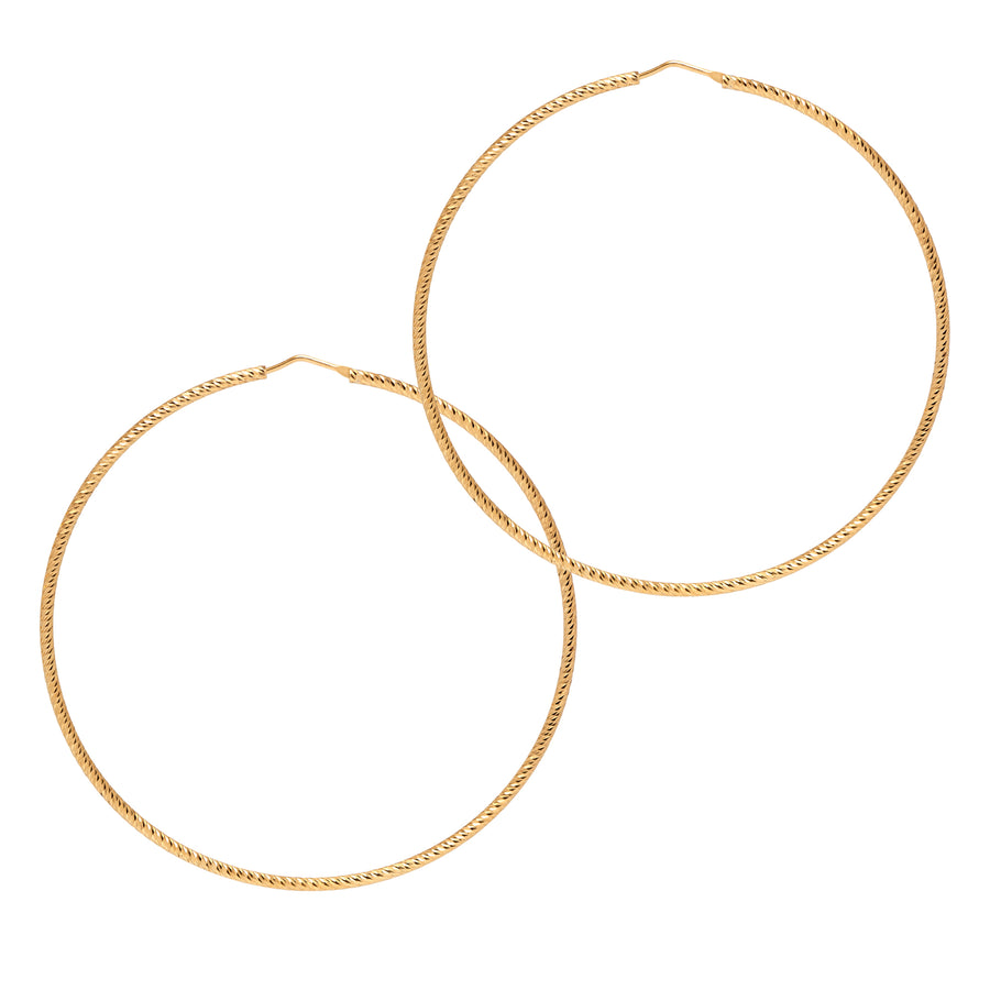 La ROMA Extra Large Gold - The Hoop Station 925 Sterling Silver Hoop Earrings Gold Huggies