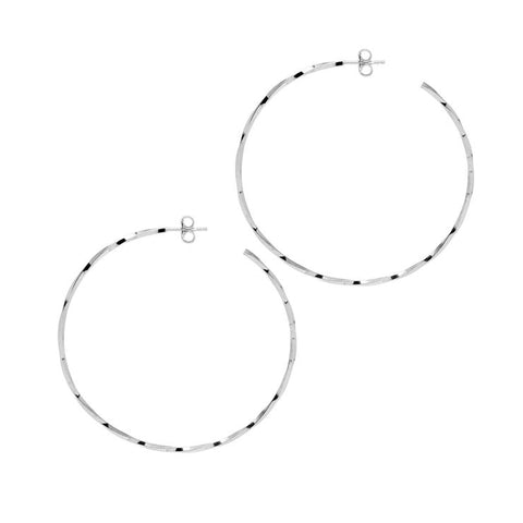 La LAGO Di COMO Silver - The Hoop Station 925 Sterling Silver Hoop Earrings Gold Huggies