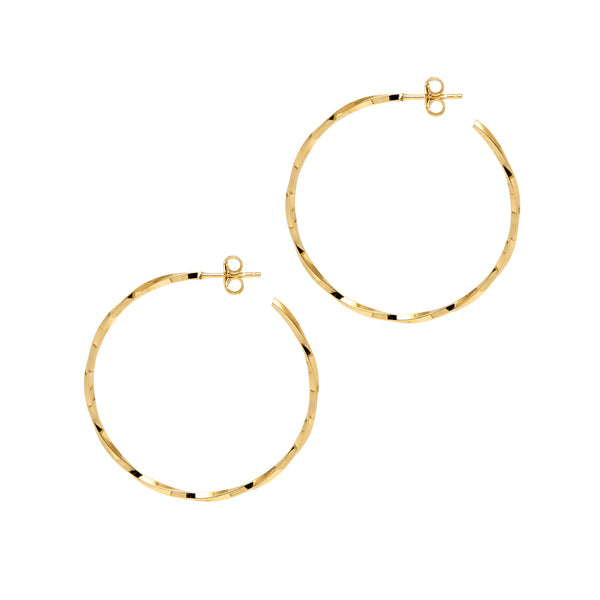 La LAGO DI COMO Medio - Gold - The Hoop Station 925 Sterling Silver Hoop Earrings Gold Huggies