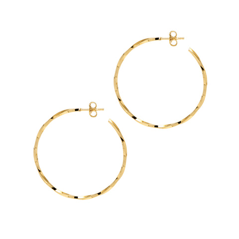 La LAGO di COMO Gold - The Hoop Station 925 Sterling Silver Hoop Earrings Gold Huggies