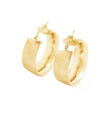 La SATINA CUFFS - Midi - Gold - The Hoop Station 925 Sterling Silver Hoop Earrings Gold Huggies