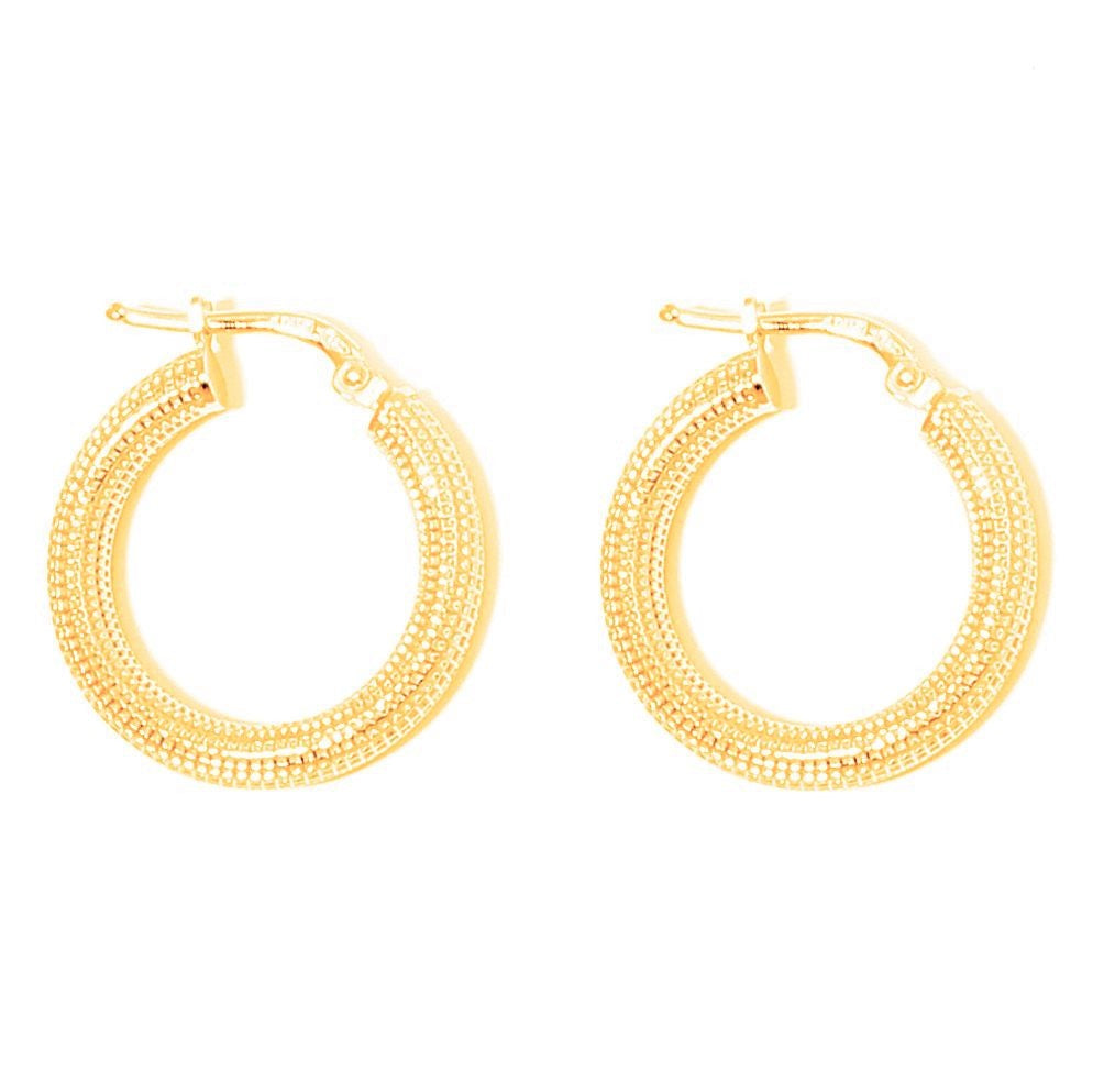 La MILANO - Gold - The Hoop Station 925 Sterling Silver Hoop Earrings Gold Huggies