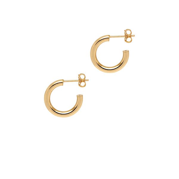La NAPOLI - Gold - The Hoop Station 925 Sterling Silver Hoop Earrings Gold Huggies