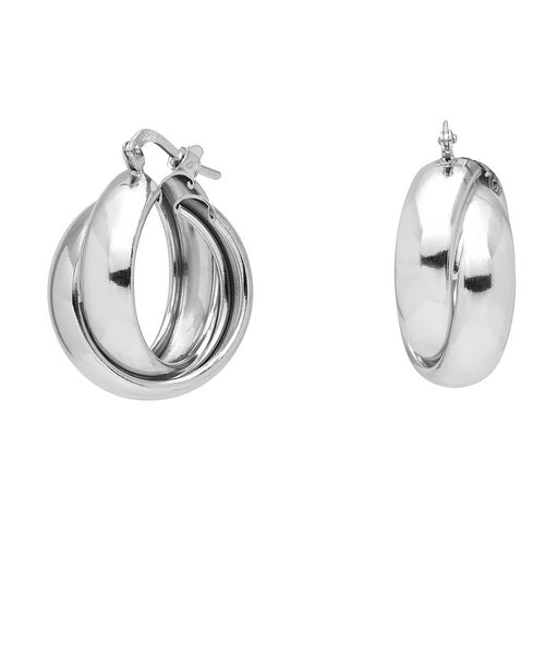La RUSSIAN TWISTS - Silver - The Hoop Station 925 Sterling Silver Hoop Earrings Gold Huggies