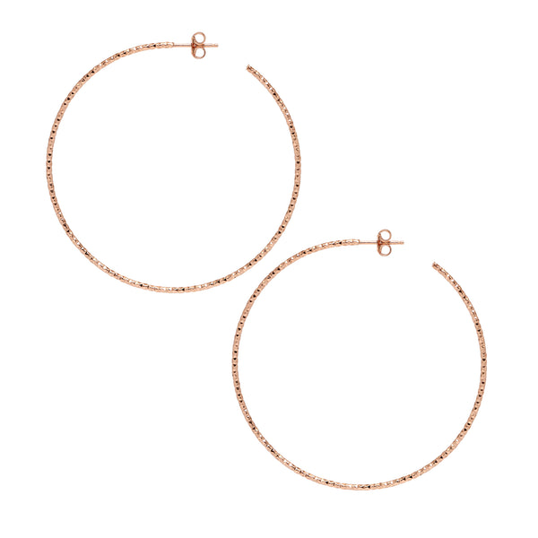 La SARDEGNA - Rose Gold - The Hoop Station 925 Sterling Silver Hoop Earrings Gold Huggies