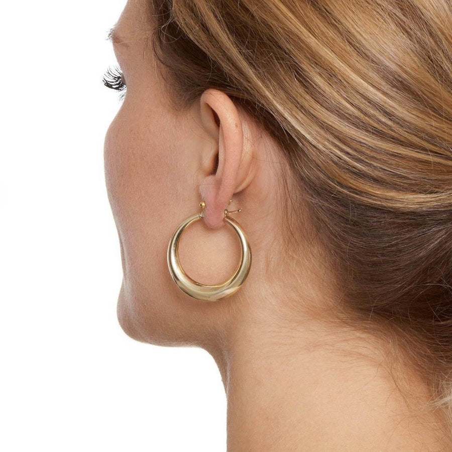 La PORTOFINO Silver - The Hoop Station 925 Sterling Silver Hoop Earrings Gold Huggies