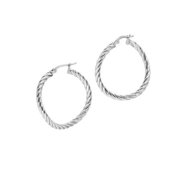 La CANDY TWIST - The Hoop Station 925 Sterling Silver Hoop Earrings Gold Huggies