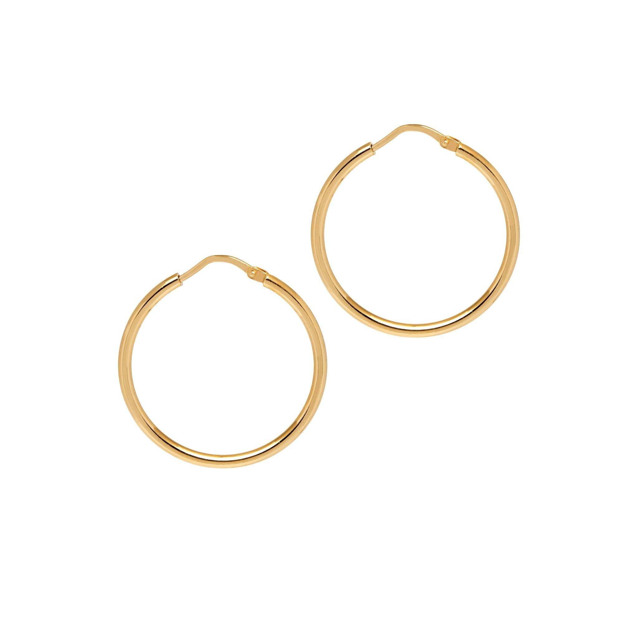 La CHICA LATINA Small - The Hoop Station 925 Sterling Silver Hoop Earrings Gold Huggies
