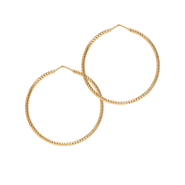 La ROMA Medium Gold - The Hoop Station 925 Sterling Silver Hoop Earrings Gold Huggies