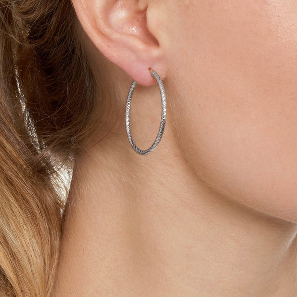La ROMA Small Gold - The Hoop Station 925 Sterling Silver Hoop Earrings Gold Huggies