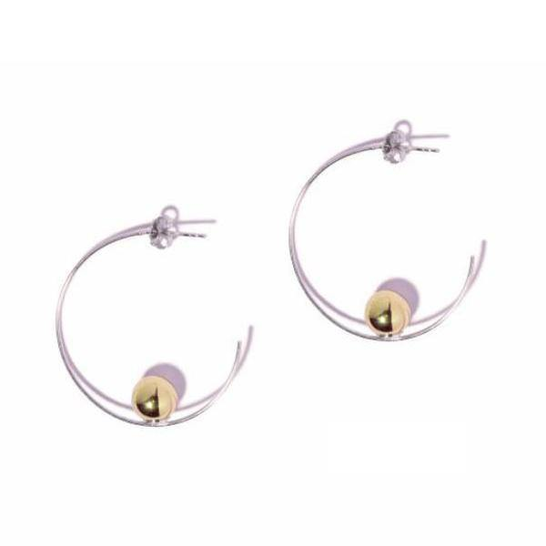 La BALLONE - SALE - The Hoop Station 925 Sterling Silver Hoop Earrings Gold Huggies