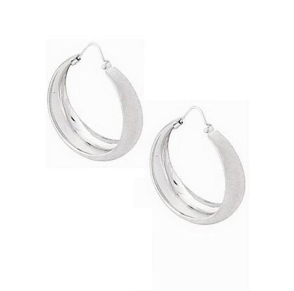 La CAMPANIA SATINA - SALE - The Hoop Station 925 Sterling Silver Hoop Earrings Gold Huggies
