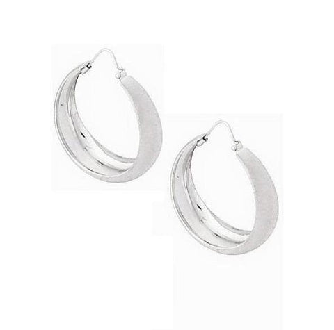 La CAMPANIA SATINA - The Hoop Station 925 Sterling Silver Hoop Earrings Gold Huggies