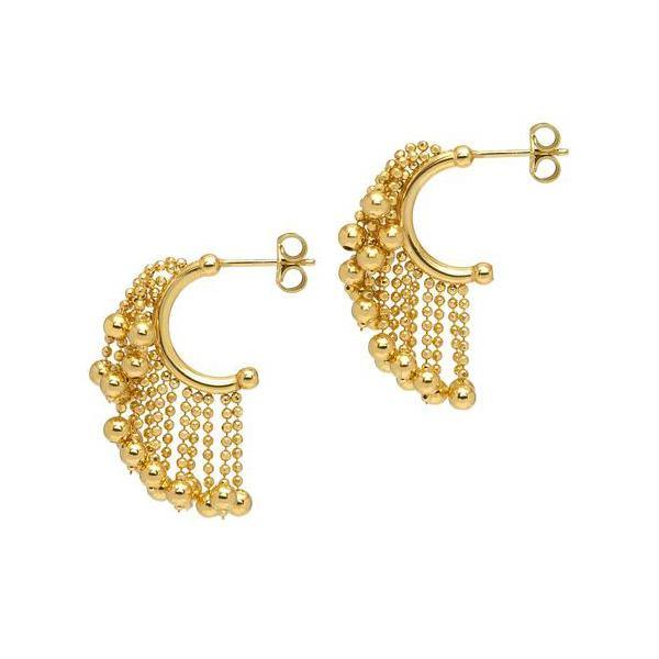 La CASCADA DROPS - The Hoop Station 925 Sterling Silver Hoop Earrings Gold Huggies