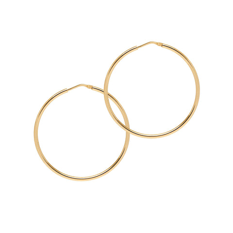 La CHICA LATINA Medium Gold - The Hoop Station 925 Sterling Silver Hoop Earrings Gold Huggies
