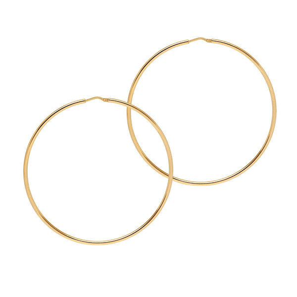 La CHICA LATINA Extra Large Silver - The Hoop Station 925 Sterling Silver Hoop Earrings Gold Huggies
