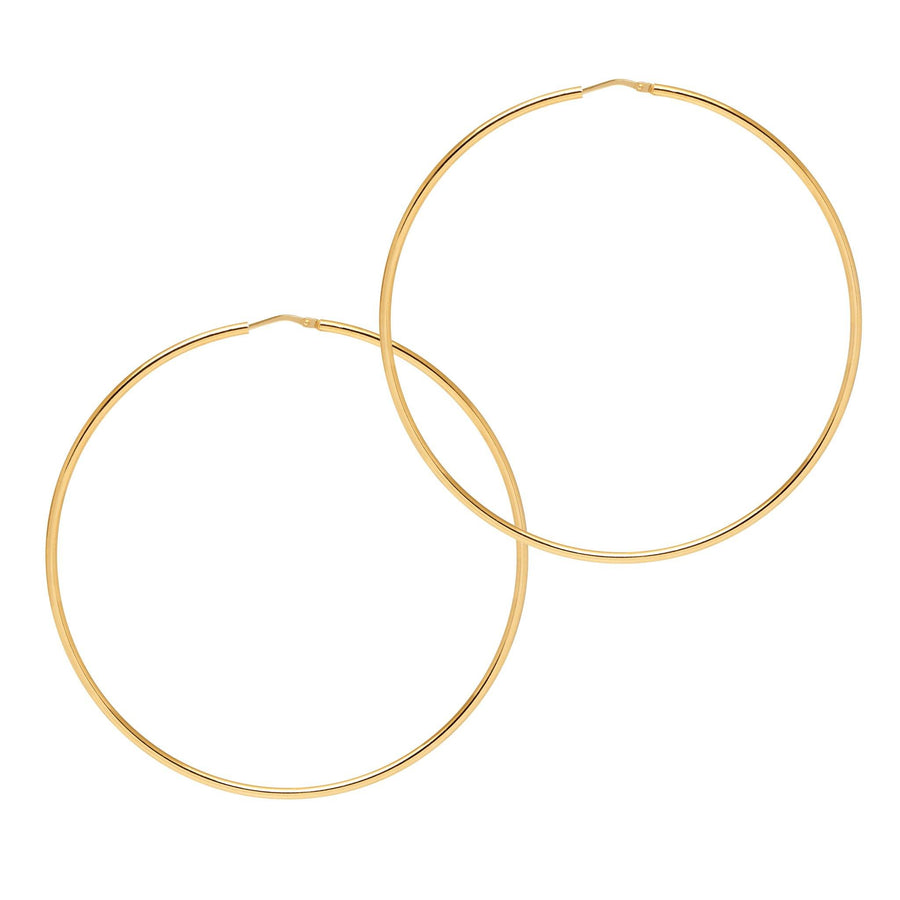 La CHICA LATINA Extra Large Gold - The Hoop Station 925 Sterling Silver Hoop Earrings Gold Huggies