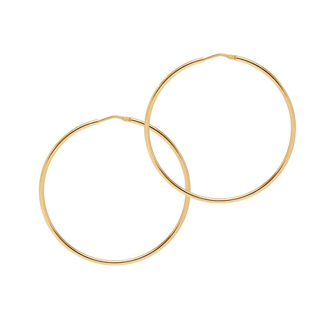 La CHICA LATINA Large Gold - The Hoop Station 925 Sterling Silver Hoop Earrings Gold Huggies