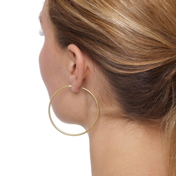 La CHICA LATINA Large Rose Gold - The Hoop Station 925 Sterling Silver Hoop Earrings Gold Huggies
