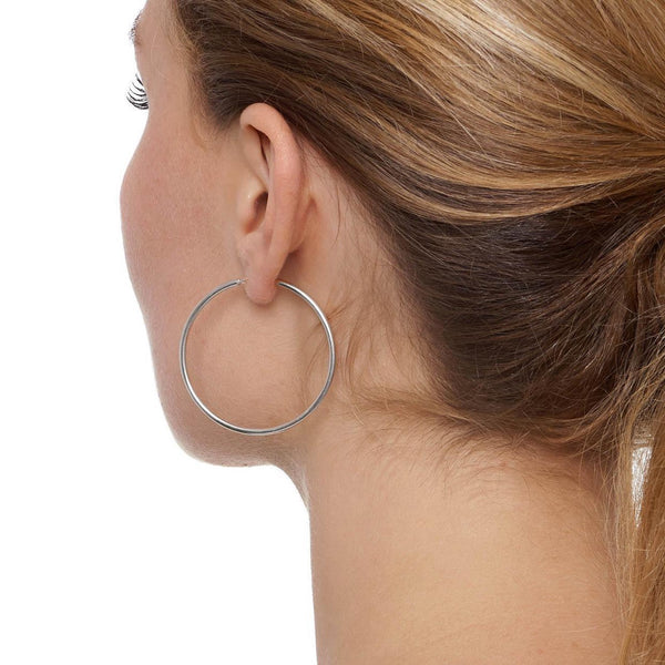 La CHICA LATINA Medium - The Hoop Station 925 Sterling Silver Hoop Earrings Gold Huggies