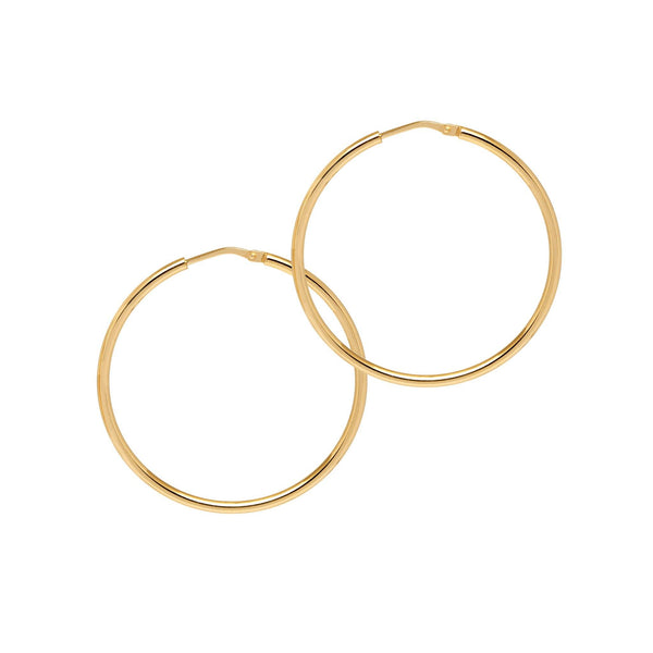 La CHICA LATINA Small Gold - The Hoop Station 925 Sterling Silver Hoop Earrings Gold Huggies
