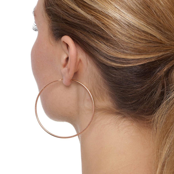 La CHICA LATINA Extra Large Rose Gold - The Hoop Station 925 Sterling Silver Hoop Earrings Gold Huggies
