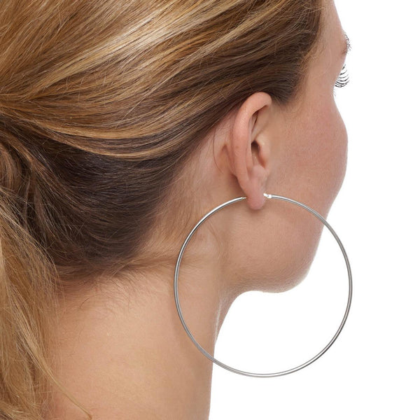 La CHICA LATINA Extra Large - The Hoop Station 925 Sterling Silver Hoop Earrings Gold Huggies