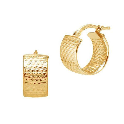 La CHISELLED CUFFS Huggies - The Hoop Station 925 Sterling Silver Hoop Earrings Gold Huggies
