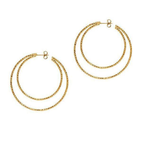 La DOPPIA SARDEGNA - Gold - The Hoop Station 925 Sterling Silver Hoop Earrings Gold Huggies