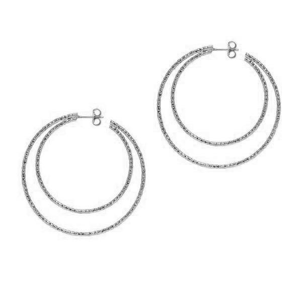 La DOPPIA SARDEGNA Hoops - The Hoop Station 925 Sterling Silver Hoop Earrings Gold Huggies