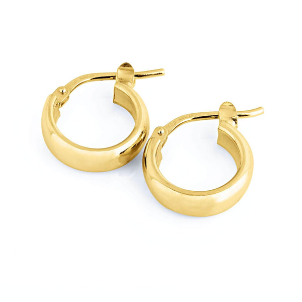 La ELBA Huggies Rose Gold - The Hoop Station 925 Sterling Silver Hoop Earrings Gold Huggies