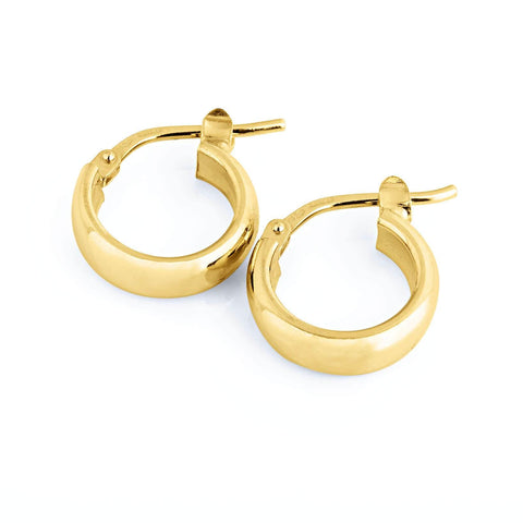 La ELBA Huggies Gold - The Hoop Station 925 Sterling Silver Hoop Earrings Gold Huggies