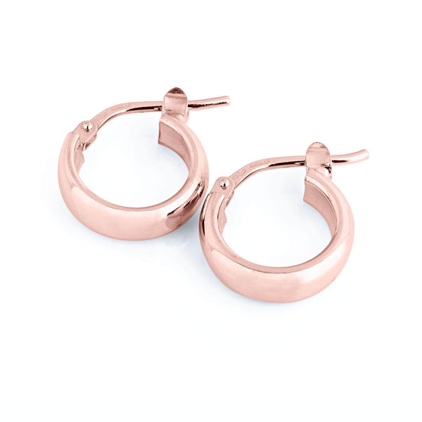 La ELBA Huggies - The Hoop Station 925 Sterling Silver Hoop Earrings Gold Huggies