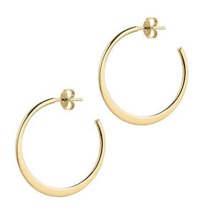 La GRADUATA Gold - The Hoop Station 925 Sterling Silver Hoop Earrings Gold Huggies